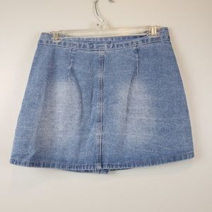 096d03cce7 Forever 21 Skirts - Forever 21 Distressed Jeans Skirt Button Front S